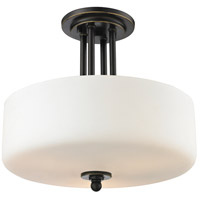 Cardinal 3 Light 13 inch Olde Bronze Semi Flush Mount Ceiling Light