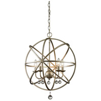 Acadia 5 Light 20 inch Antique Silver Pendant Ceiling Light
