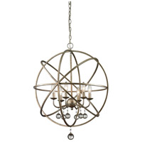 Acadia 6 Light 24 inch Antique Silver Pendant Ceiling Light