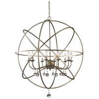 Z-Lite Acadia 10 Light Pendant in Antique Silver and Clear Crystal 415-36