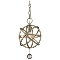 Acadia 1 Light 8 inch Antique Silver Mini Pendant Ceiling Light