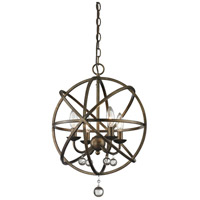Z-Lite Acadia 4 Light Pendant in Golden Bronze and Clear Crystal 416-16