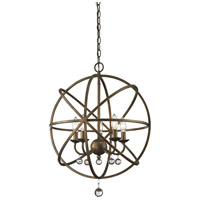 Z-Lite Acadia 5 Light Pendant in Golden Bronze and Clear Crystal 416-20