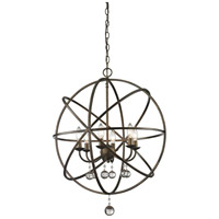 Z-Lite Acadia 6 Light Pendant in Golden Bronze and Clear Crystal 416-24