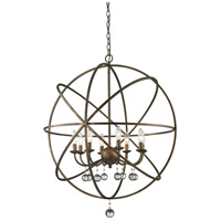 Z-Lite Acadia 8 Light Pendant in Golden Bronze and Clear Crystal 416-30
