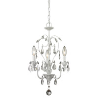Princess 3 Light 13 inch Matte White Mini Chandelier Ceiling Light