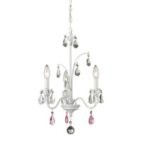 Princess 3 Light 14 inch Matte White Mini Chandelier Ceiling Light