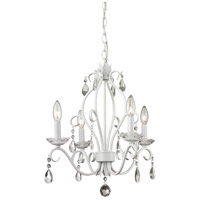 Z-Lite 423MW Princess Chandeliers 4 Light 17 inch Matte White Mini Chandelier Ceiling Light
