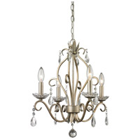Princess 4 Light 17 inch Antique Silver Mini Chandelier Ceiling Light