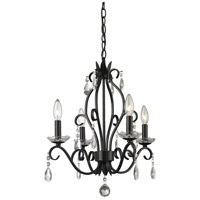 Z-Lite 425MB Princess 4 Light 17 inch Matte Black Mini Chandelier Ceiling Light
