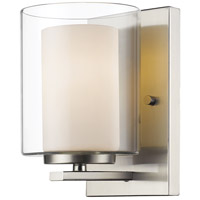 Z-Lite Willow 1 Light Wall Sconce in Brushed Nickel 426-1S-BN