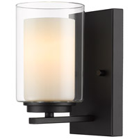 Z-Lite 426-1S-MB Willow 1 Light 5 inch Matte Black Wall Sconce Wall Light