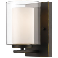 Z-Lite Willow 1 Light Wall Sconce in Olde Bronze 426-1S-OB