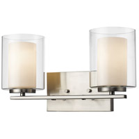 Z-Lite 426-2V-BN Willow 2 Light 15 inch Brushed Nickel Vanity Light Wall Light