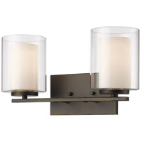 Willow 2 Light 15 inch Olde Bronze Vanity Light Wall Light