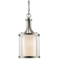 Willow 3 Light 9 inch Brushed Nickel Pendant Ceiling Light