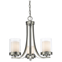 Willow 3 Light 16 inch Brushed Nickel Chandelier Ceiling Light
