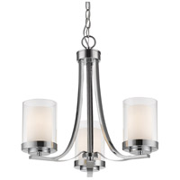 Z-Lite 426-3C-CH Willow 3 Light 16 inch Chrome Chandelier Ceiling Light