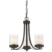 Z-Lite 426-3C-OB Willow 3 Light 16 inch Olde Bronze Chandelier Ceiling Light