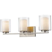Z-Lite Willow 3 Light Vanity Light in Brushed Nickel 426-3V-BN