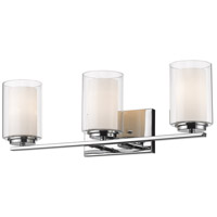 Z-Lite 426-3V-CH Willow 3 Light 24 inch Chrome Vanity Wall Light