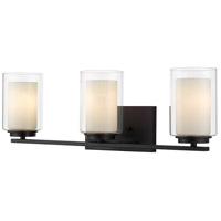 Z-Lite 426-3V-MB Willow 3 Light 24 inch Matte Black Vanity Wall Light