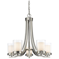 Willow 5 Light 25 inch Brushed Nickel Chandelier Ceiling Light