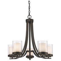 Z-Lite 426-5-OB Willow 5 Light 25 inch Olde Bronze Chandelier Ceiling Light
