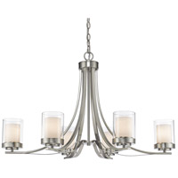 Willow 6 Light 35 inch Brushed Nickel Chandelier Ceiling Light