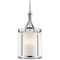 Z-Lite 426-8-CH Willow 8 Light 16 inch Chrome Pendant Ceiling Light
