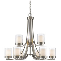 Z-Lite Willow 9 Light Chandelier in Brushed Nickel 426-9-BN