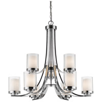 Willow 9 Light 31 inch Chrome Chandelier Ceiling Light