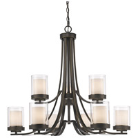 Z-Lite 426-9-OB Willow 9 Light 31 inch Olde Bronze Chandelier Ceiling Light