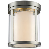 Willow 3 Light 9 inch Brushed Nickel Flush Mount Ceiling Light