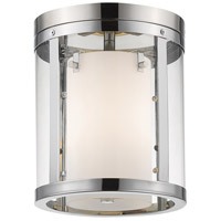 Z-Lite 426F-CH Willow 3 Light 9 inch Chrome Flush Mount Ceiling Light
