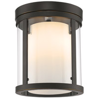 Willow 3 Light 9 inch Olde Bronze Flush Mount Ceiling Light