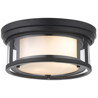 Z-Lite 426F12-MB Willow 2 Light 12 inch Matte Black Flush Mount Ceiling Light
