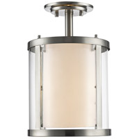 Z-Lite Willow 3 Light Semi-Flush Mount in Brushed Nickel 426SF-BN