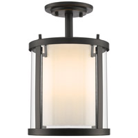 Z-Lite 426SF-OB Willow 3 Light 9 inch Olde Bronze Semi Flush Mount Ceiling Light