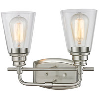 Z-Lite Annora 2 Light Vanity Light in Brushed Nickel 428-2V-BN