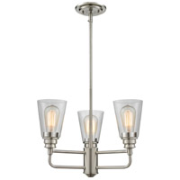 Annora 3 Light 19 inch Brushed Nickel Chandelier Ceiling Light
