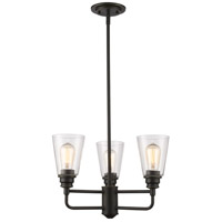 Z-Lite 428-3-OB Annora 3 Light 19 inch Olde Bronze Chandelier Ceiling Light