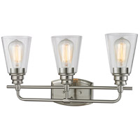 Z-Lite Annora 3 Light Vanity Light in Brushed Nickel 428-3V-BN