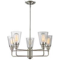 Annora 5 Light 25 inch Brushed Nickel Chandelier Ceiling Light