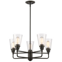 Z-Lite 428-5-OB Annora 5 Light 25 inch Olde Bronze Chandelier Ceiling Light
