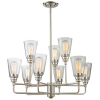 Annora 9 Light 29 inch Brushed Nickel Chandelier Ceiling Light