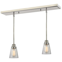 Z-Lite 428MP-2BN Annora 1 Light 6 inch Brushed Nickel Island Light Ceiling Light