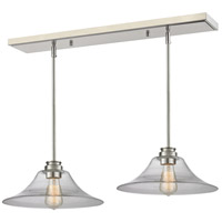 Z-Lite 428MP14-2BN Annora 1 Light 30 inch Brushed Nickel Island/Billiard Ceiling Light in 12.48