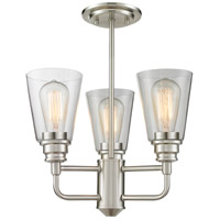 Z-Lite Annora 3 Light Semi-Flush Mount in Brushed Nickel 428SF-BN