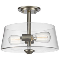 Annora 2 Light 12 inch Brushed Nickel Semi Flush Mount Ceiling Light